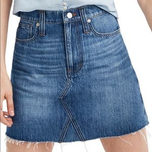NWT Madewell Rigid Denim A-Line Mini Skirt
